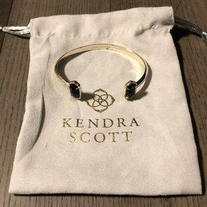 Kendra Scott gold Elton Bracelet in Black Opaque